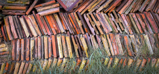 Roof Tiles - Church of St John the Baptist, Horsington, Somerset, UK. ID JB1_3689