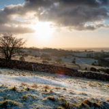 Fist snow of the year - Cooks Fields, Mendip Hills, Somerset, UK. ID JB1_4813