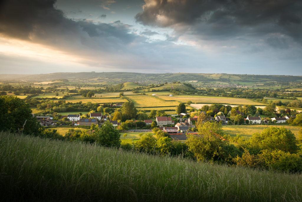 Evening - Henton, Somerset, UK. ID Henton Panorama