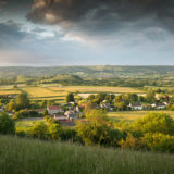 Evening - Henton, Somerset, UK. ID Henton Panorama