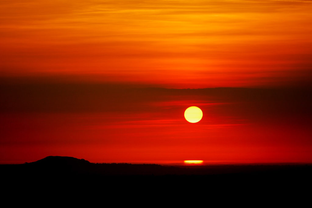 Brent Knoll Sunset - From Lynchcombe, Somerset, UK. ID JBA_1029