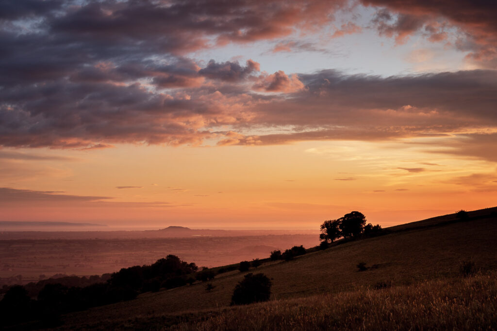Deerleap Sunset - Mendip Hills, Somerset, UK. ID JB1_4526
