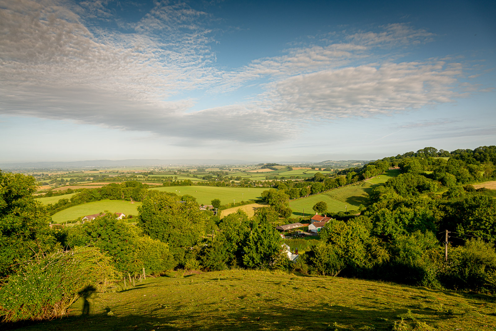 Looking out from Knoll Hill - Moorlinch, Somerset, UK. ID JB1_4637