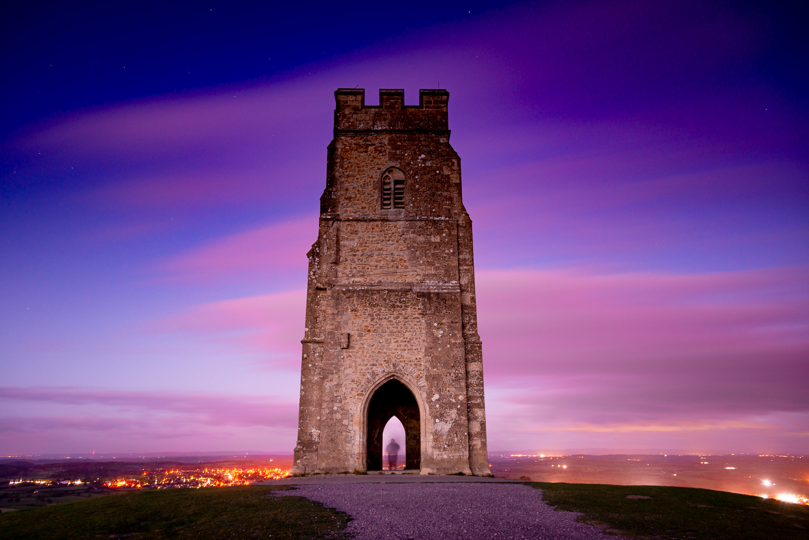 Ghost in the Tower - Glastonbury Tor, Somerset, UK. ID JB1_7587