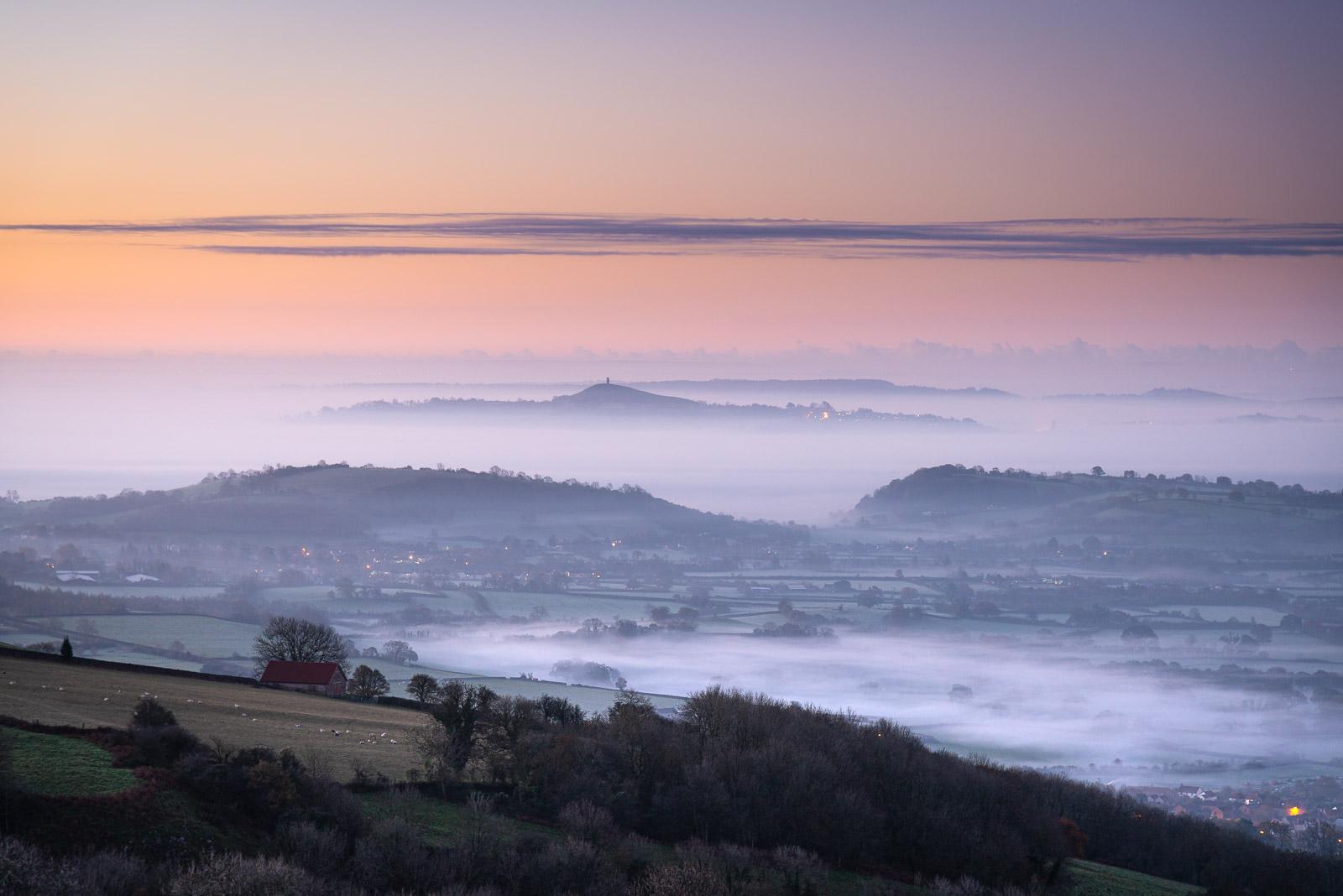 Glastonbury Tor - From Lynchcombe, Mendip Hills, Somerset, UK. ID JB1_8538