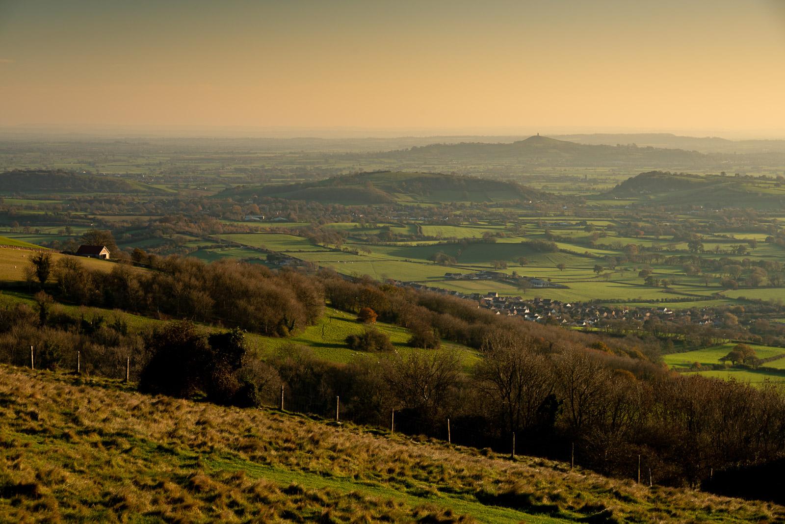 Glastonbury Tor - From Cooks Fields, Mendip Hills, Somerset, UK. ID JB1_8752