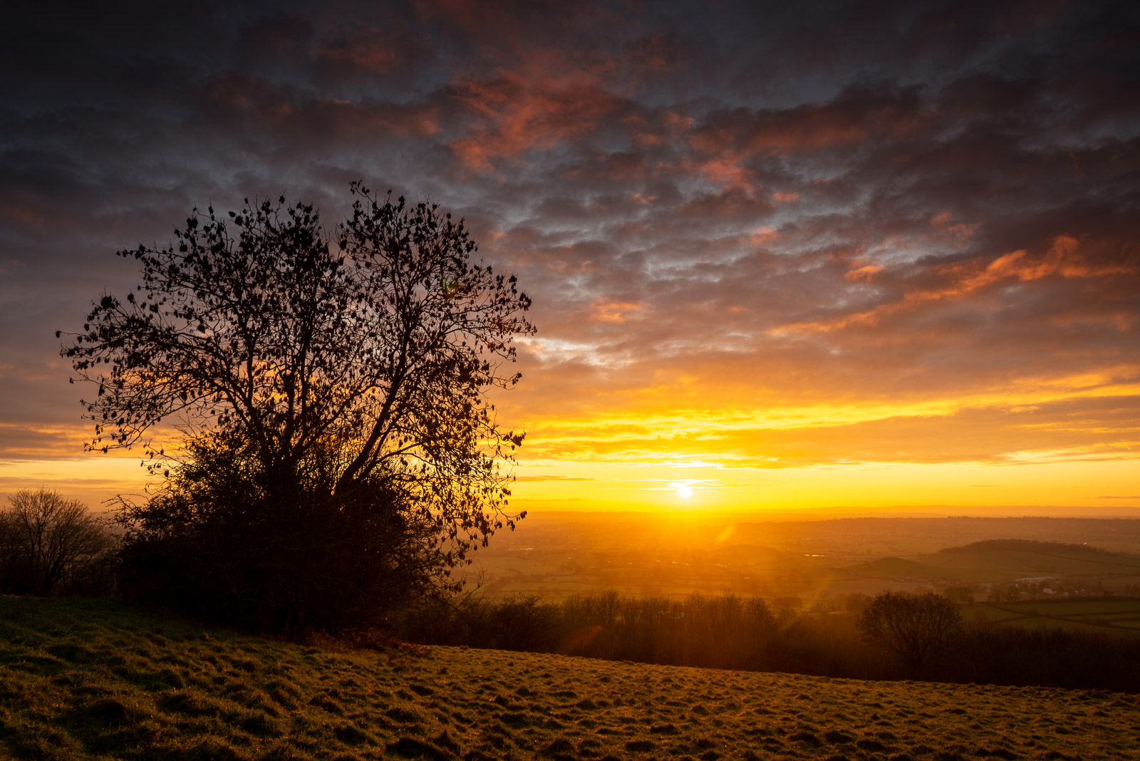 Sunset - Lynchcombe, Somerset, UK. ID JB1_0210H