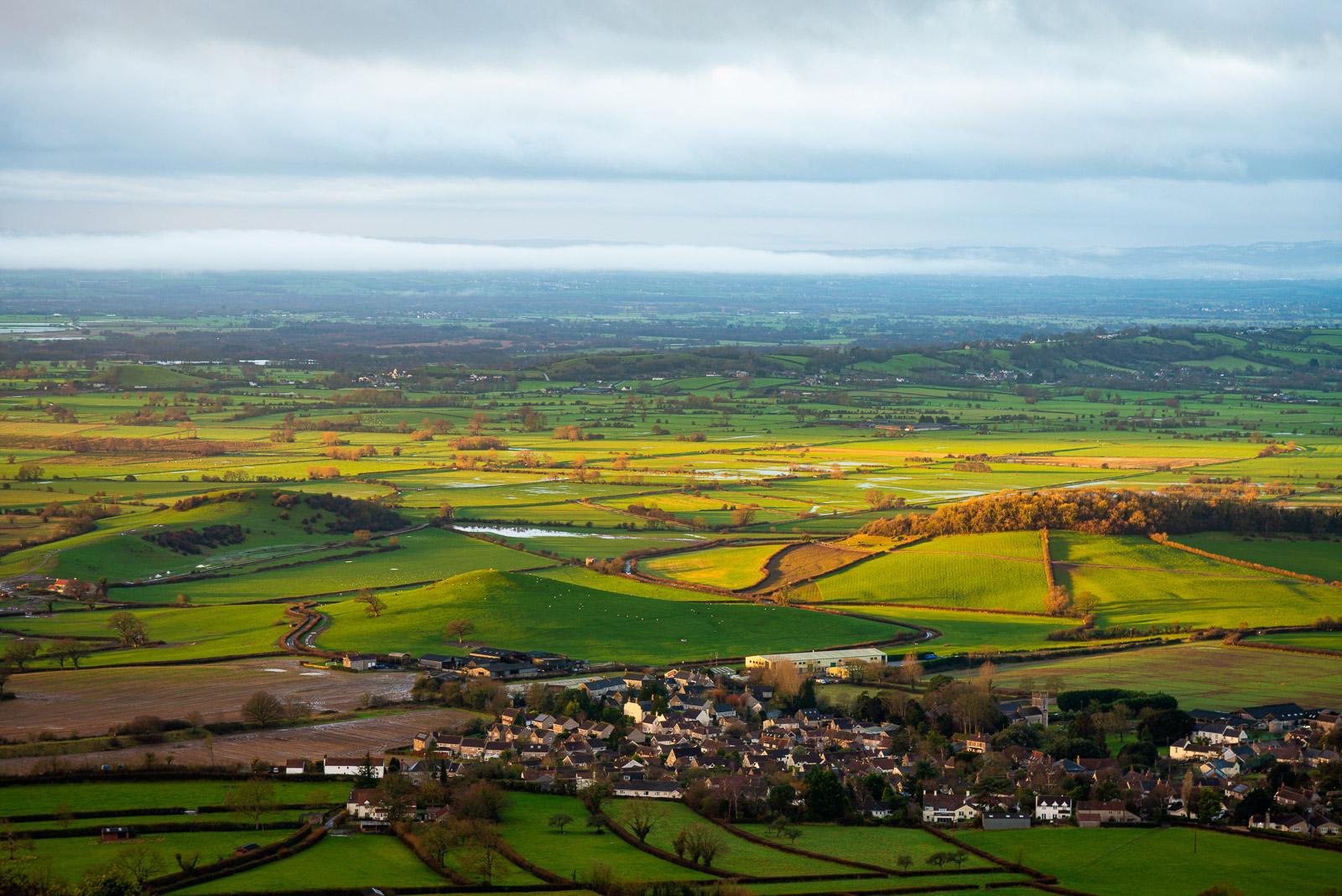 Westbury-sub-Mendip - From Cooks Fields, Mendip Hills, Somerset, UK. ID JB1_1294