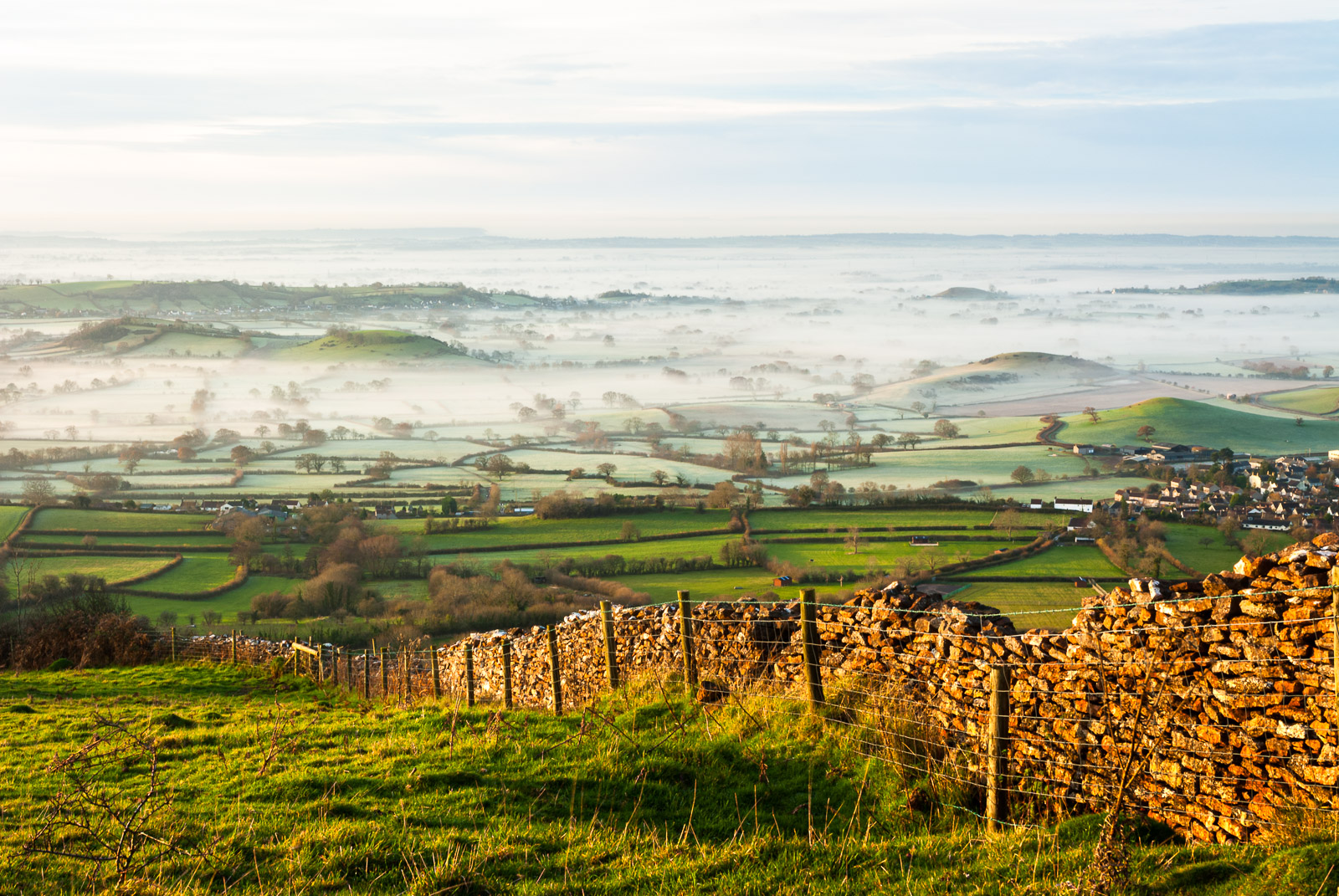 Misty morning at Lynchcombe - Somerset, UK. ID JB3_3741