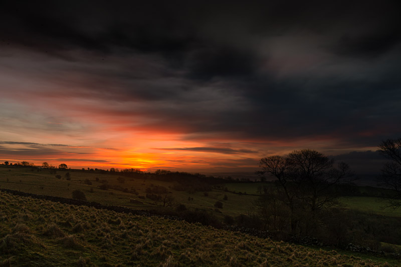 Lynchcombe Sunrise - Mendip Hills, Somerset, UK. ID JB1_1693
