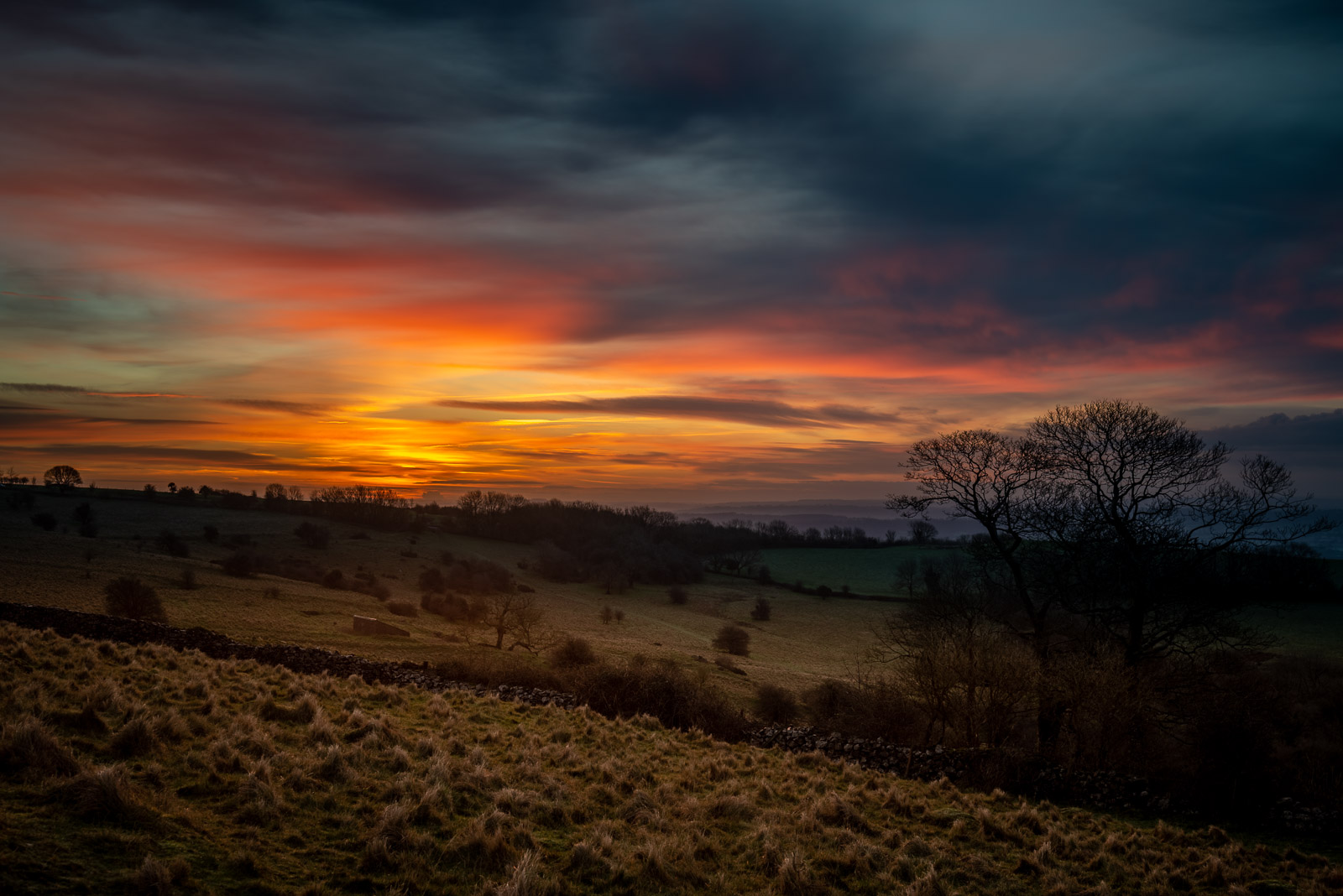 Lynchcombe Sunrise - Mendip Hills, Somerset, UK. ID JB1_1706H