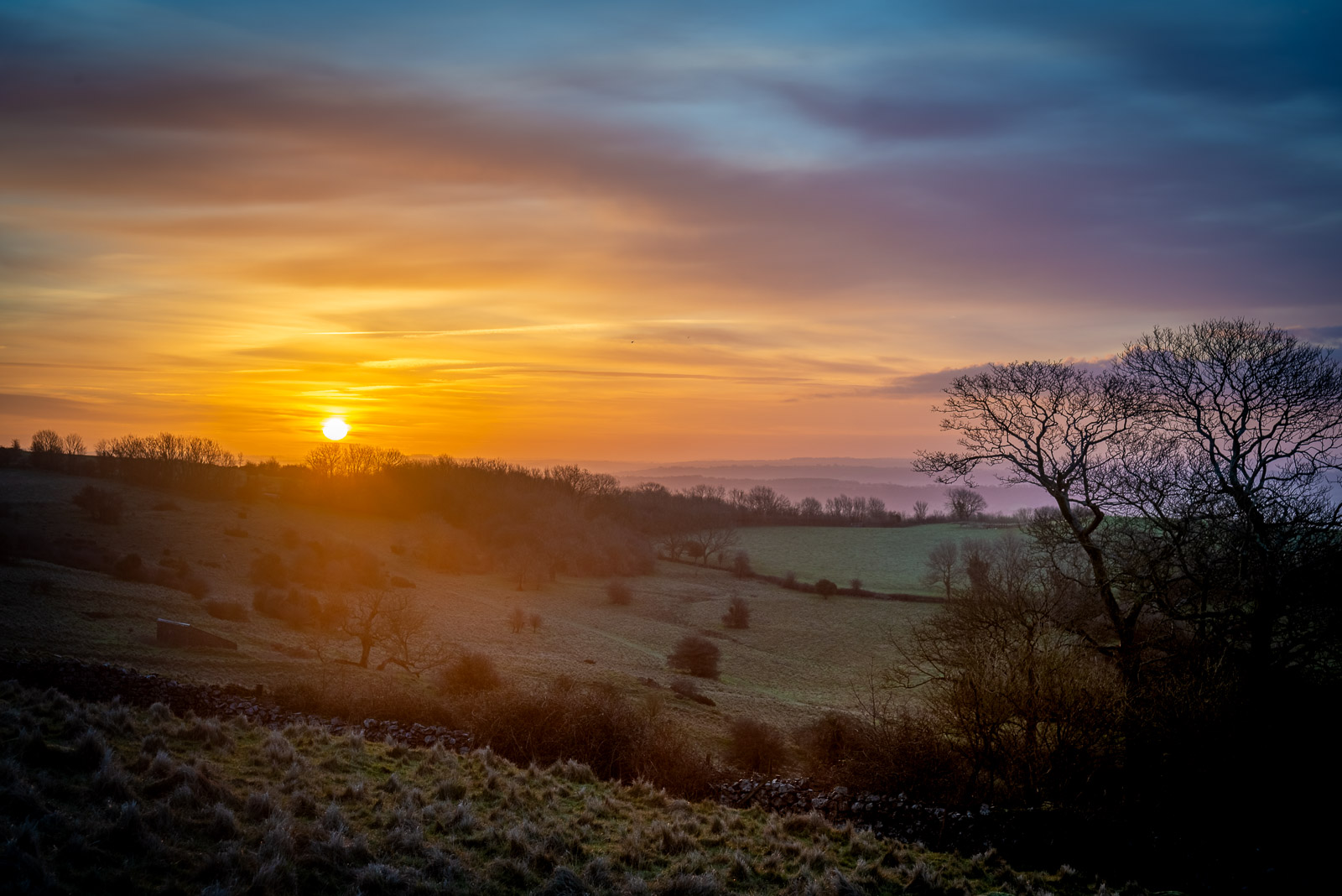 Lynchcombe Sunrise - Mendip Hills, Somerset, UK. ID JB1_1790H