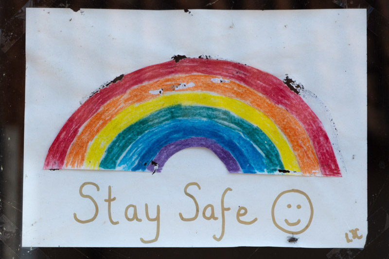 Stay Safe - Westhay, Somerset, UK. ID IMG_6845