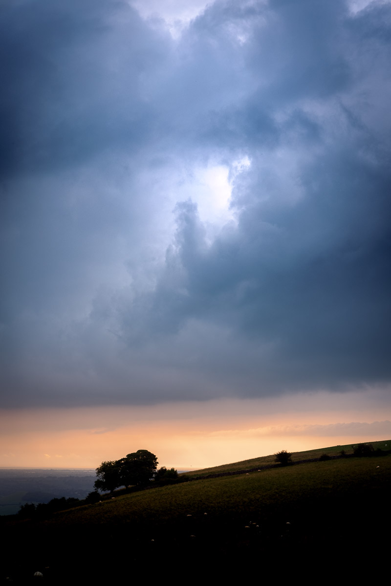 Approaching Storm - Over Lynchcombe, Mendip Hills, Somerset, UK. ID BR54081