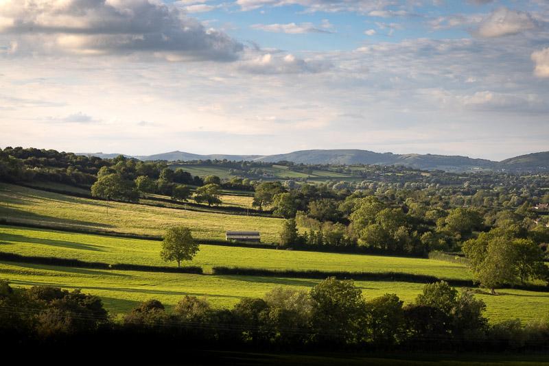 Towards Crook Peak - From Bagley, Nr Wedmore, Somerset, UK. ID BR55740