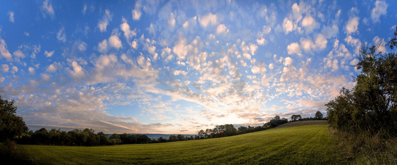 Sunrise at Bagley Fields - Nr Wedmore, Somerset, UK. ID BR55808P