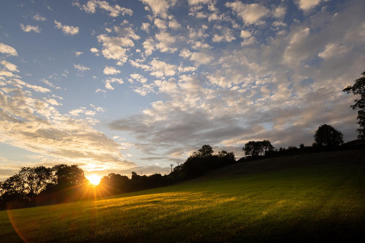 Sunrise at Bagley Fields - Nr Wedmore, Somerset, UK. ID BR55845