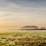 Nyland Hill across Cheddar Moor - Somerset, UK. ID BR58746