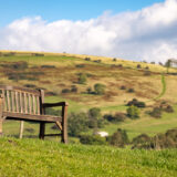 Bench with a view - Westbury-sub-Mendip, Somerset, UK. ID BR59320